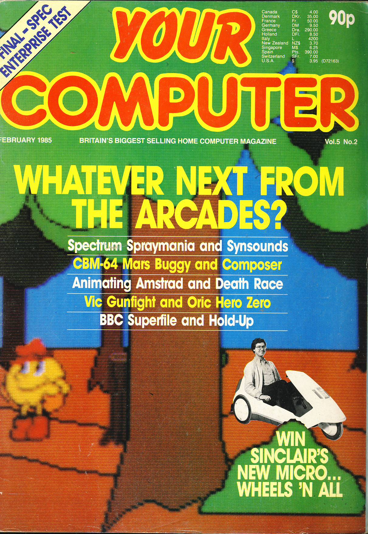 Whatever Next From the Arcades?  Some great vintage adverts for computers and games. Pre-owned vintage mgazine in good read condition. Please see large photo for more details.
