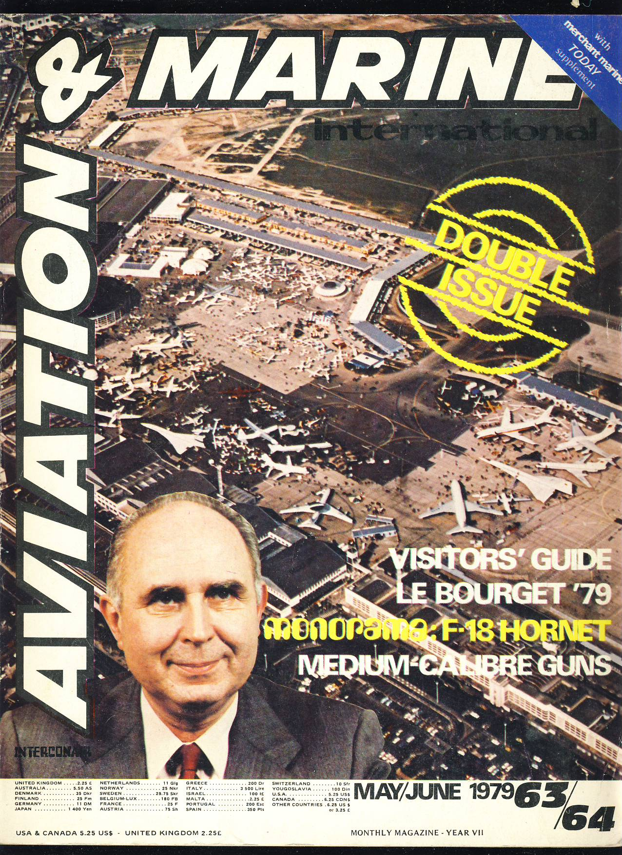 Front cover shows Mr Rene Revaud President of the Groupement des Industries Francaises Aeronautiques et Spatiales SNECMA Pre-owned vintage mgazine in good read condition. Please see large photo for more details.