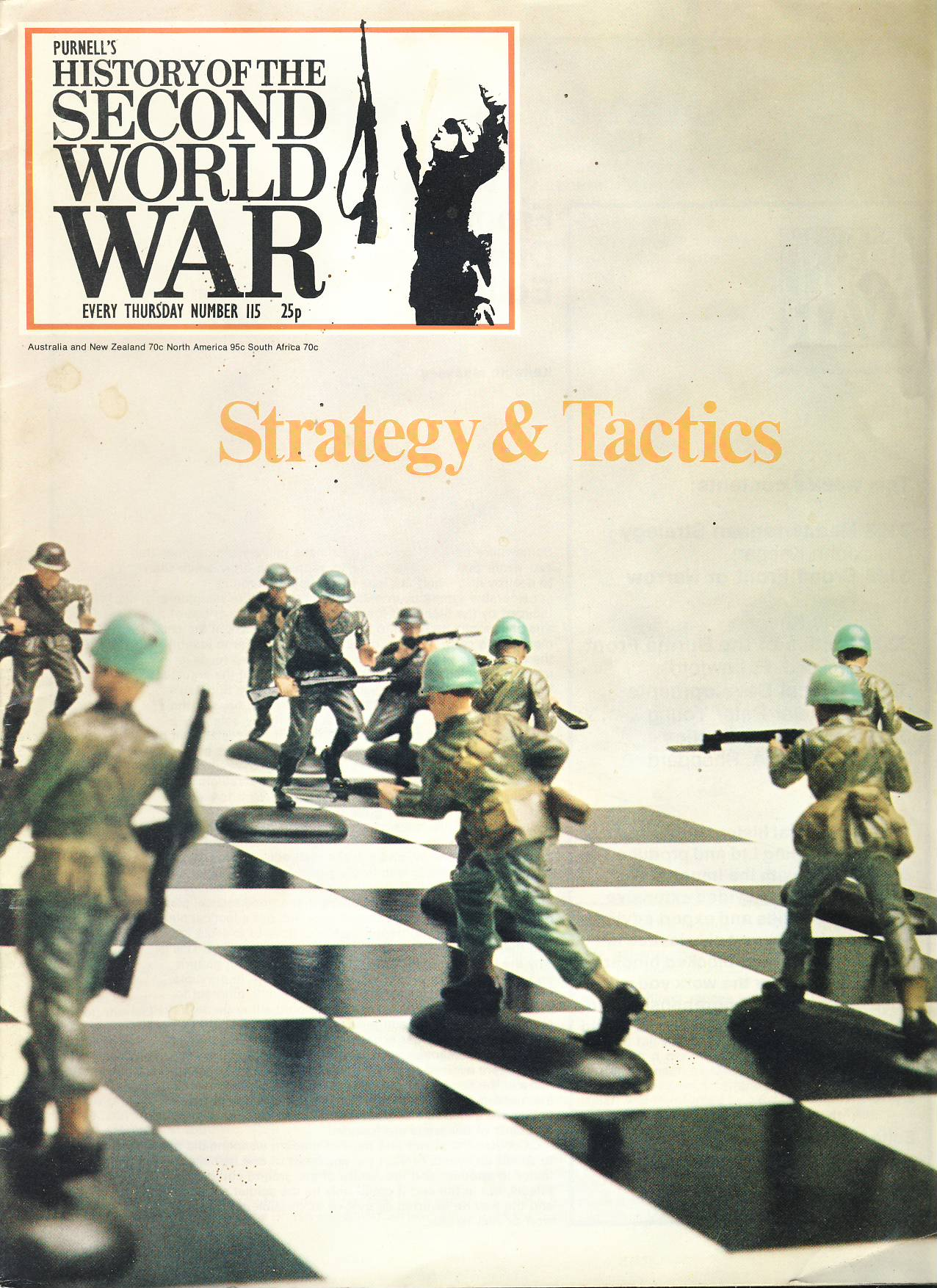 History of the Second World War Magazine #115 Strategy & Tactics A vintage Purnell's weekly magazine in good read condition. Please see larger photo and full description for details.