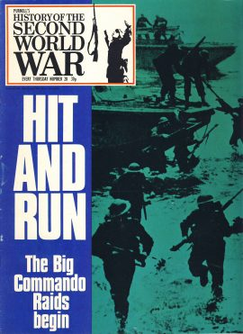 History of the Second World War Magazine #28 HIT AND RUN Big Commando Raids A vintage Purnell's weekly magazine in good read condition. Please see larger photo and full description for details.