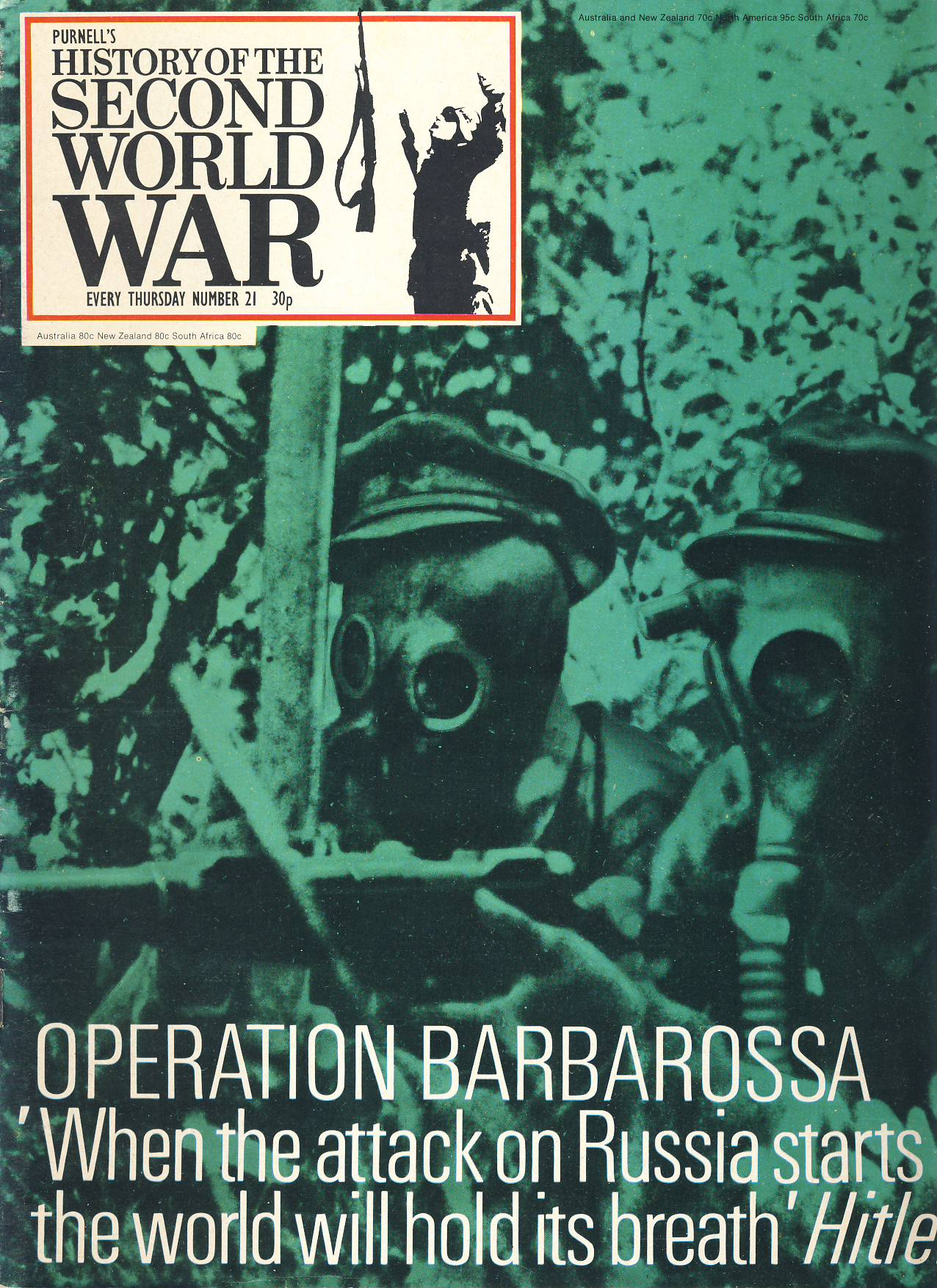 History of the Second World War Magazine #21 OPERATION BARBAROSSA Wehrmacht A vintage Purnell's weekly magazine in good read condition. Please see larger photo and full description for details.