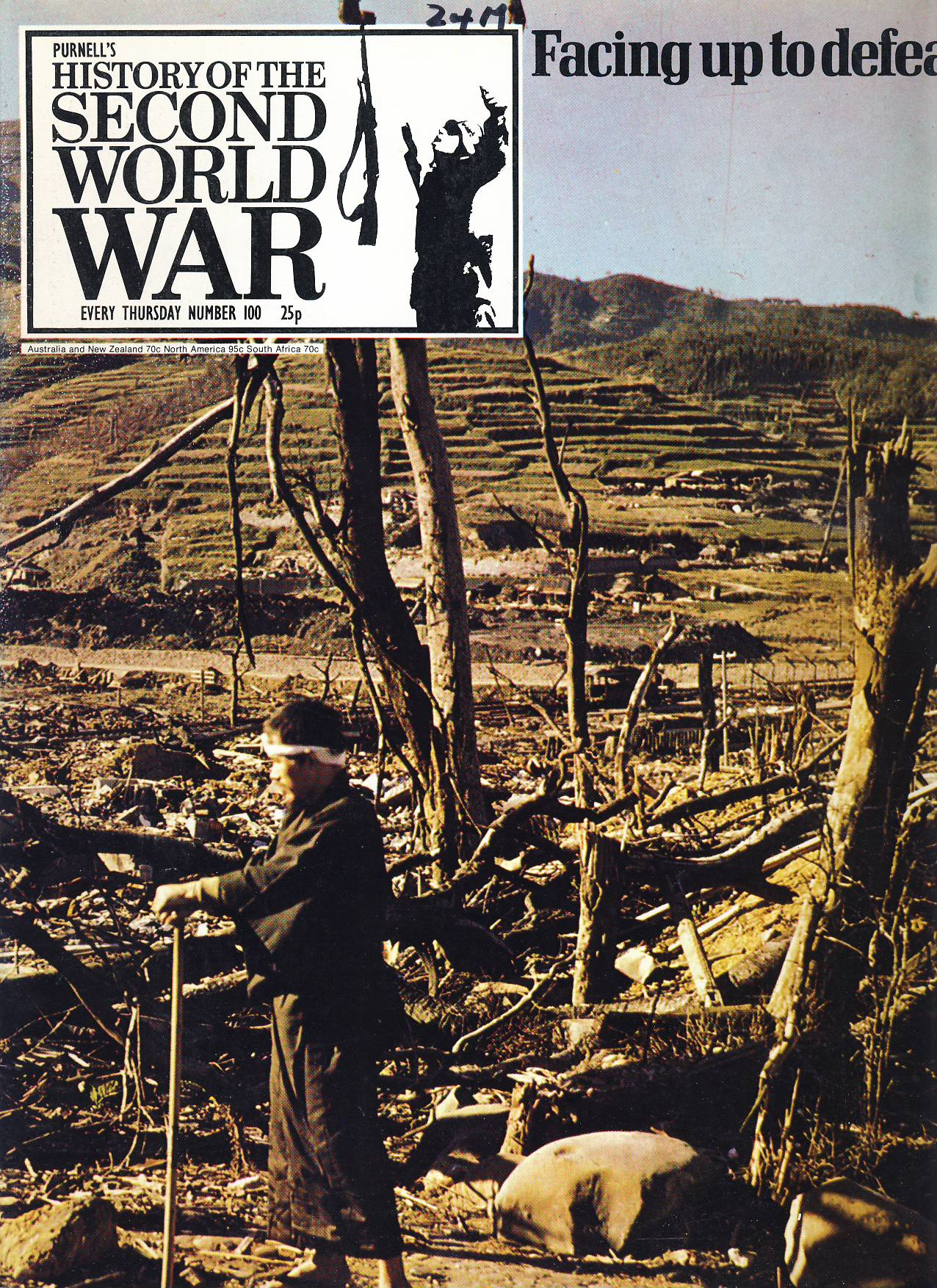 History of the Second World War Magazine #100 FACING UP TO DEFEAT Japan CHINA Burma Malaya INDONESIA A vintage Purnell's weekly magazine in good read condition. Please see larger photo and full description for details.