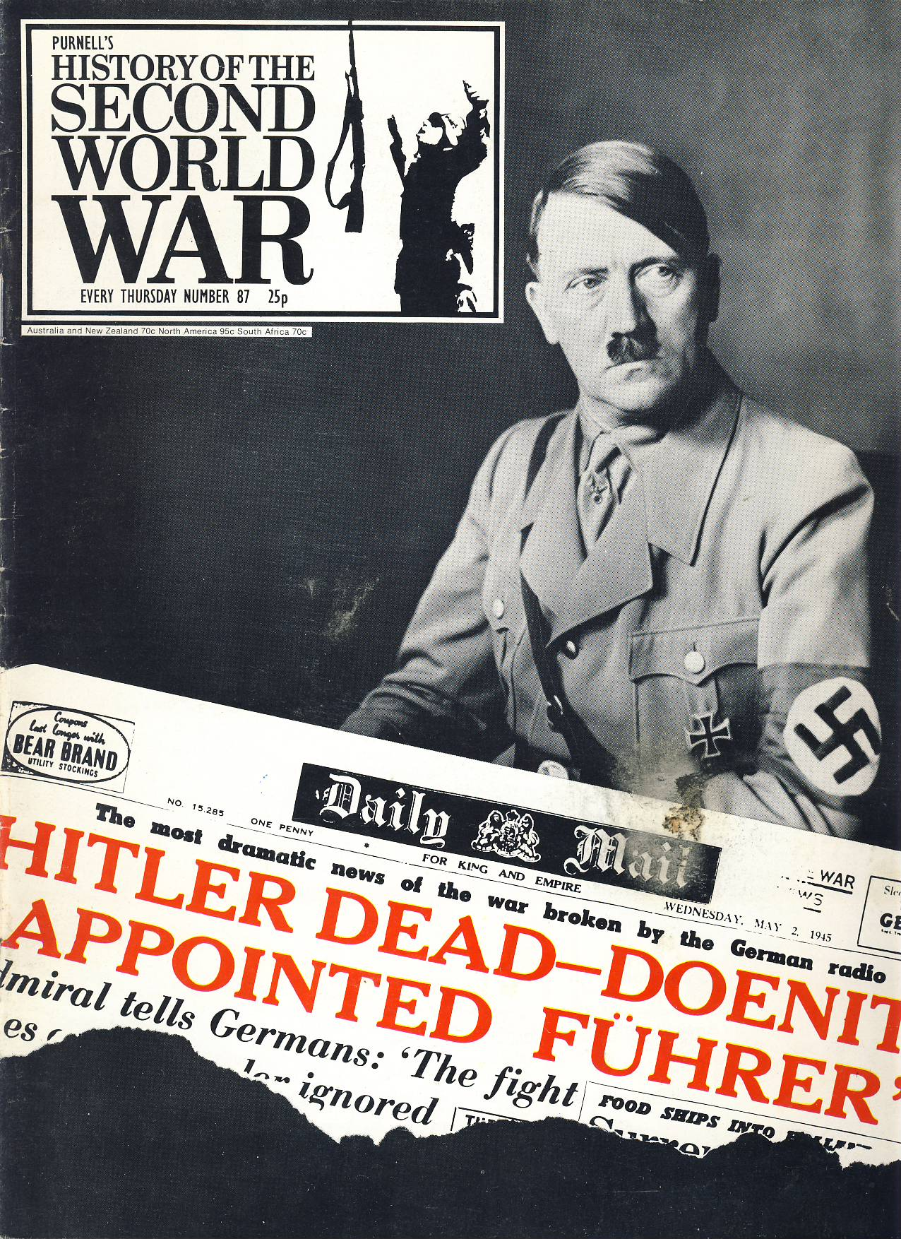 History of the Second World War Magazine #87 HITLER DEAD Prague Rising BERLIN last 5 days A vintage Purnell's weekly magazine in good read condition. Please see larger photo and full description for details.