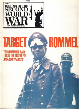 History of the Second World War Magazine #24 TARGET ROMMEL A vintage Purnell's weekly magazine in well read condition. Please see larger photo and full description for details.