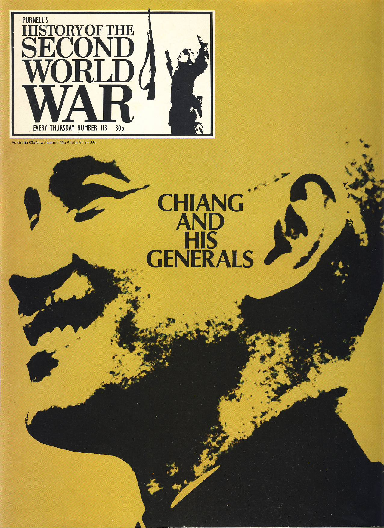 History of the Second World War Magazine #113 CHIANG AND HIS GENERALS A vintage Purnell's weekly magazine in good read condition. Please see larger photo and full description for details.