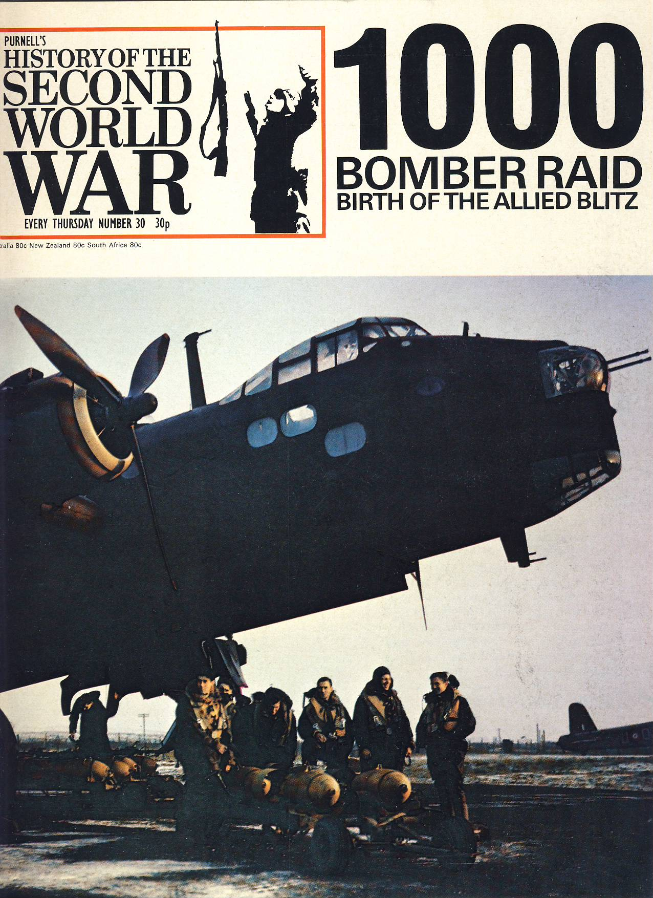 History of the Second World War Magazine #30 1000 Bomber Raid Birth of the Allied Blitz A vintage Purnell's weekly magazine in good read condition. Please see larger photo and full description for details.