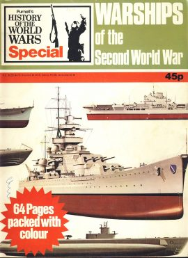 History of the World Wars Magazine SPECIAL WARSHIPS 1973 A vintage Purnell's publication in very well read condition - 64 pages. Please see larger photo and full description for details.