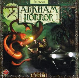 ARKHAM HORROR Boardgame Rules Rulebook 2005 Call of CTHULHU ref101525 S4 Measures approx 28cm x 28cm 24 pages.  Please read the full description and see photo.