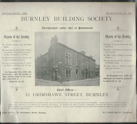 Vintage BURNLEY Adverts Building Society JOHN DIXON Printers refS4 Great social and commercial history of Burnley.  Borough Printing and Staionery Works
