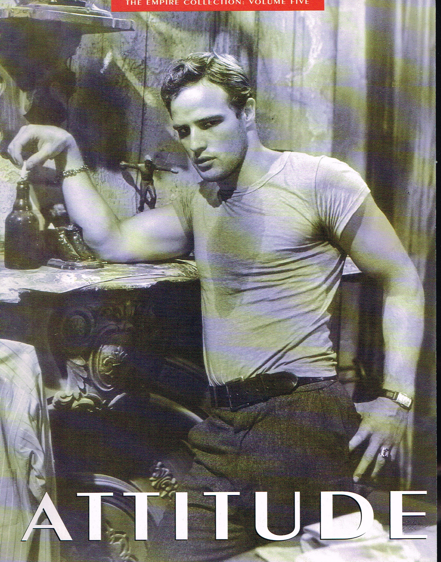 ATTITUDE Empire Collection vol.5 Marlon Brando centre fold ref101531 S4 Supplement Containing Photos and Posters Ideal for framing. Measures approx 24cm x 32cm - 24 pages. Please read the full description and see photo.