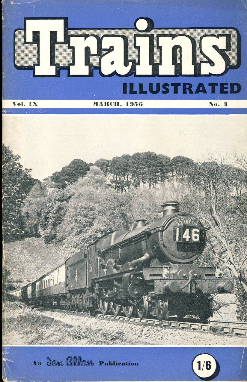 March 1956 Trains Illustrated Ian Allan magazine ref004 A1 Western Region 4-6-0 No.4080 Powerdam Castle emerges from Greenway Tunnel. Please read the full description and see photo.