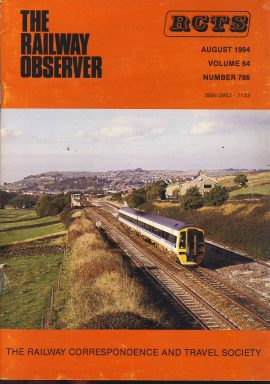 August 1994 Vol.64 No.786 RCTS Railway Observer magazine ref0032 A1 158783 New Mills junction on cover. Please read the full description and see photo.