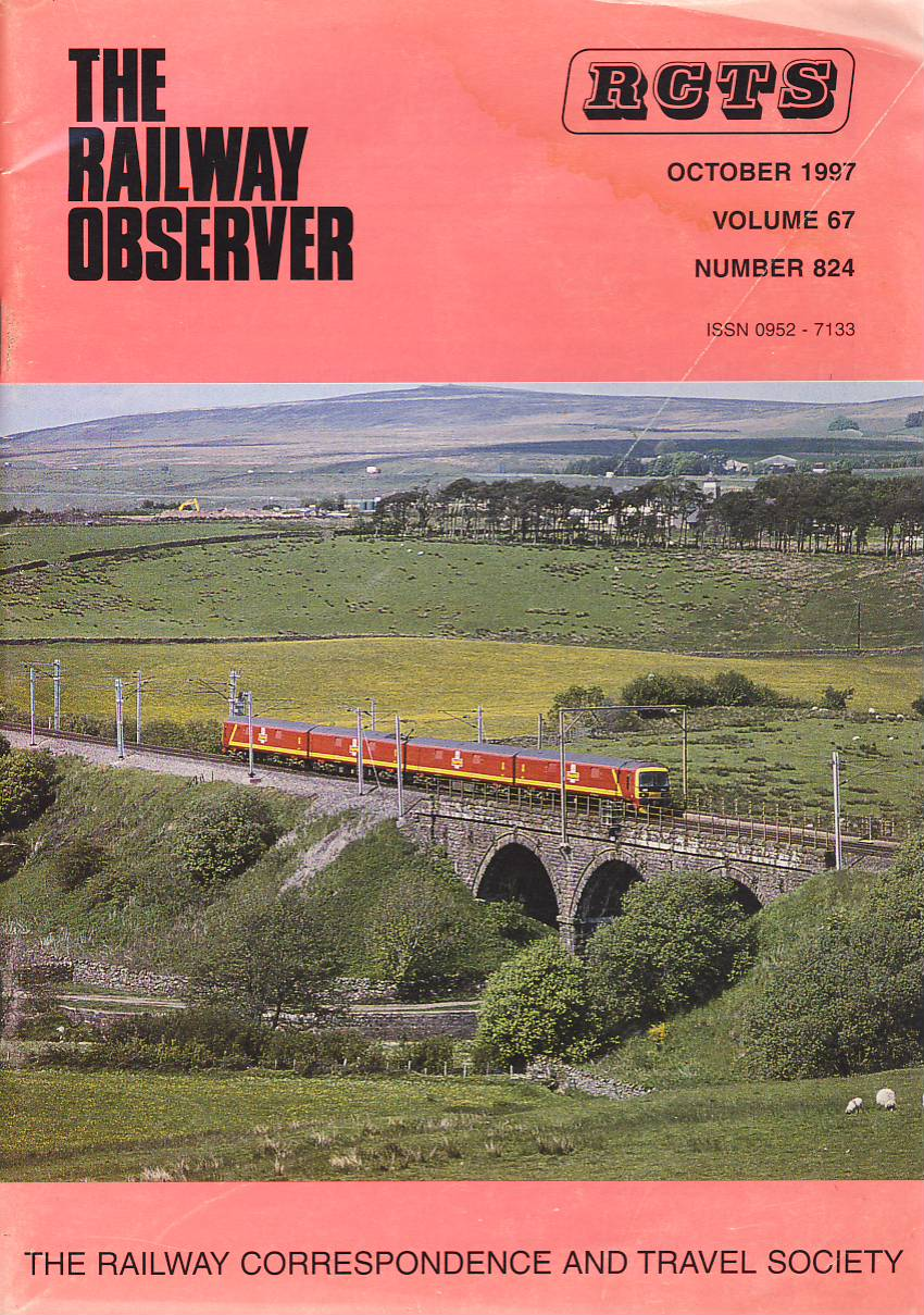 October 1997 Vol.67 No.824 RCTS Railway Observer magazine ref0039 A1 A Royal Mail Cl.325 Shap on cover. Please read the full description and see photo.
