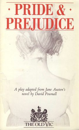 1986 Tessa Peake-Jones OLD VIC Theatre PRIDE AND PREJUDICE programme  ref0057 A1 Pre-owned item. Measures approx  13cm x 21cm 28 pages. Cast includes Peter Sallis