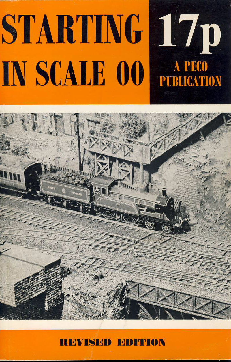 1968 Starting in Scale 00 PECO PUBLICATIONS model railway booklet ref0073 A1 Revised edition cover price 17p vintage 32 pages booklet Pre-owned item.