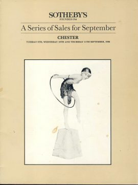 SOTHEBYS 1986 CHESTER Sales Catalogue 64 page good reference source ref0078 A1 Auction prices realised have been written in pen for furniture