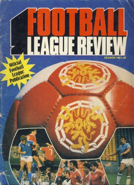 Football League Review season 1981-82 Official magazine ref0095 A1 Pre-owned vintage item. 106 pages of pictures with information about teams
