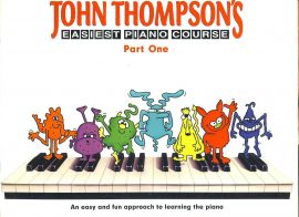John Thompsons Easiest Piano CoursePart One Learn the Piano ref101526 music and words 40 pages 1995 Pre-owned item.