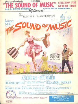 1959 SOUND OF MUSIC Songbook GUITAR SOLO selection ref101538 music and words Rogers and Hammersteins 16 page Williamson Music Ltd publication. Pre-owned item.