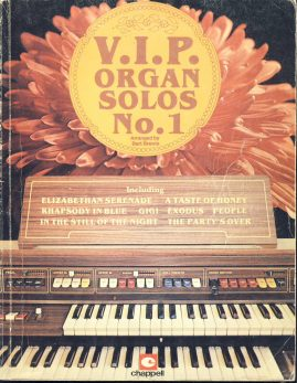 1980 Bert Brewis V.I.P. ORGAN SOLOS No.1 sheet music book ref101549 Chappell New Bond Street 64 pages. Pre-owned item.
