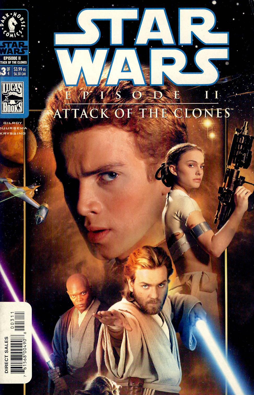 Star Wars Episode II Attack of the Clones Comic VGC ref101562 Dark Horse Comic no.3 of 4 in very good read condition.