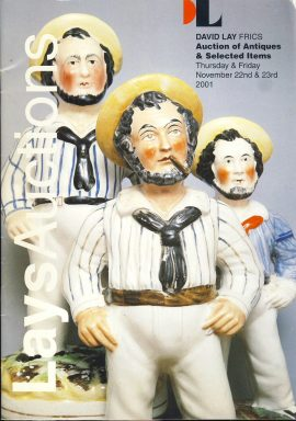 David Lays Auctions Catalogue Nov 2001 ref101582 38 page magazine pre-owned in good read condition.
