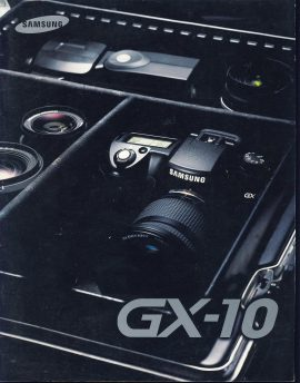 GX-10 SAMSUNG CAMERA magazine / brochure ref101587 Measure approx 21cm x 27cm Undated 24 page catalogue / magazine pre-owned in good read condition.