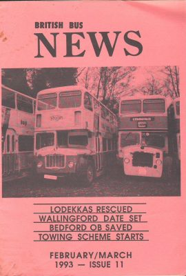 1993 Feb March Issue 11 British Bus News booklet ref101593 Measures approx 21cm x 14cm 30 page  pre-owned in good used condition.