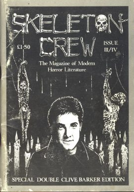SKELETON CREW 1988 Clive Barker Modern Horror Literature booklet ref101595 Special Double Cliver Barker Edition Issue III/IV Measures approx 21cm x 15cm 82 pages pre-owned in good used condition.