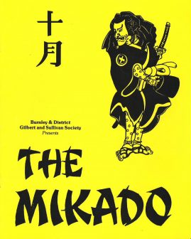 The Mikado BURNLEY Gilbert and Sullivan 1990 PHILIP HINDLE theatre programme ref101616 Peter Wilson as The Mikado of Japan. Measures approx 25cm x 20cm 16 page vintage brochure is  pre-owned in good used condition.