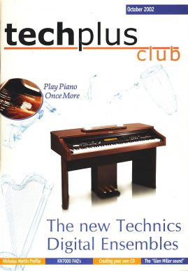 October 2002 techplus club Technics Musical Instruments MAGAZINE ref101621 an independent publication 52 pages. Measures approx 30cm x 21cm is  pre-owned in good read condition.