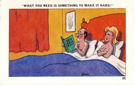 QUIP 86 Sex Made Easy couple in bed 1973 vintage Comic postcard A Sapphire Card refP7 Pre-owned in good condition. Posted from Great Yarmouth - writing on reverse.
