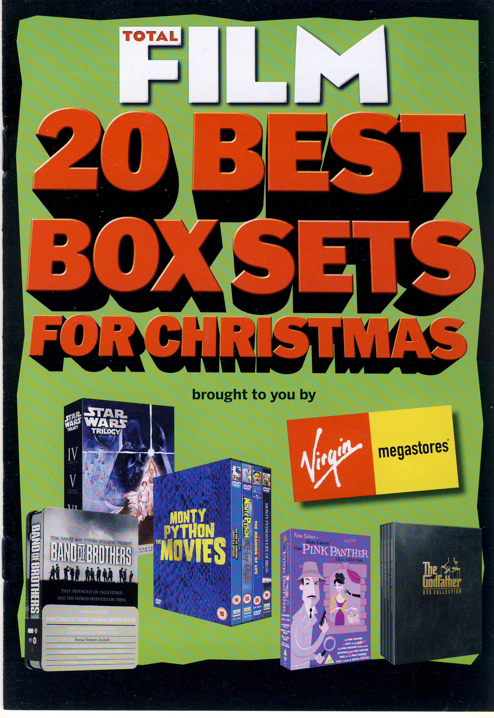 Total Film Booklet 20 BEST BOX SETS FOR CHRISTMAS 24 pages measures approx 15 cm x 21cm ref101627 Vrigin megastores small magazine pre-owned in good read condition.