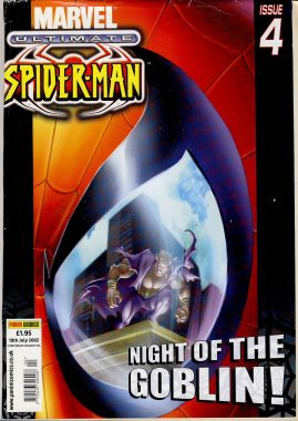 2002 Marvel Ultimate Issue 4 SPIDER-MAN Night of the Goblin ref101641 Used magazine pre-owned in good clean read condition. Cover has wear and is loose.