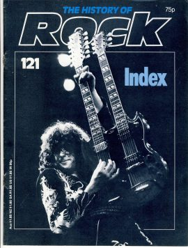 The History of Rock 121 INDEX Vol.1-10 1984 22 pages ref101642 Clean intact magazine pre-owned in good read condition.