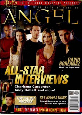Buffy Vampire Slayer ANGEL Collectors Edition 2003 ref101644 68 page magazine pre-owned in good read condition.