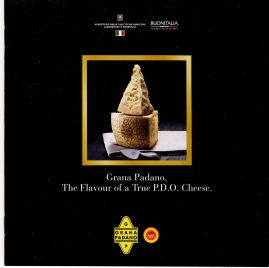Gran Padano True P.D.O Cheese promo booklet ref101657 16 page vintage measures approx 17cm x  17cm  pre-owned in good read condition. Contains 3 recipes and information.