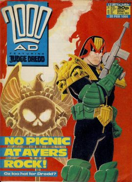 2000 AD Feat. JUDGE DREDD comic 20th Feb 1988 ref101659 pre-owned in well read condition. Name written on cover.