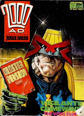 19th Nov 1988 2000 AD feat. JUDGE DREDD comic ref101671 pre-owned in well read condition.
