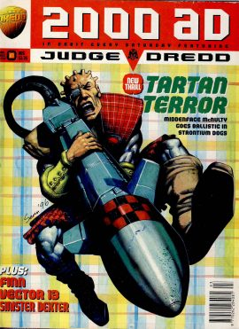 2000 AD feat. JUDGE DREDD PROG no.993 24 May Tartan Terror ref101672 pre-owned in well read condition.
