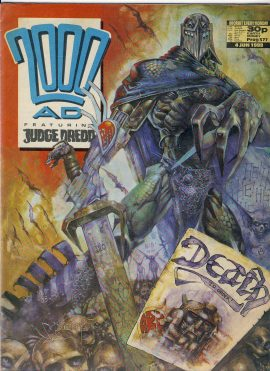 4th June 1988 2000 AD feat. JUDGE DREDD ref101674 pre-owned in well read condition. Address written on back cover.