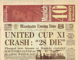 1998 Feb 2nd Munich Air Disaster 40th Anniversary Tribute MEN Vintage Newspaper refS4 Manchester Evening News 32 page publication is pre-owned in well read condition.