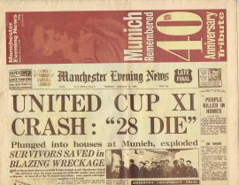 1958 Munich Air Disaster 40th Anniversary Tribute 1998 MEN Vintage Newspaper refS4 Monday February 2nd 1998 Manchester Evening News 32 page publication is pre-owned in well read condition.