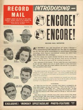 September 1961 RECORD MAIL Vintage Newspaper Dean Martin Frank Sinatra refS4 Also on cover Nat King Cole