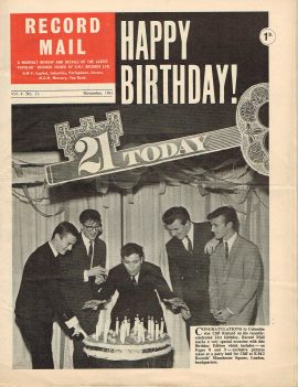 November 1961 RECORD MAIL 21st Birthday CLIFF RICHARD Vintage Newspaper refS4 November 1961 monthly review and details of the latest 'popular' records issued by E.M.I. Records Ltd. Vol.4 No.11. 16 page publication pre-owned in well read condition.