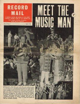 April 1961 RECORD MAIL Vintage Newspaper MATT MONRO refS4 Music Man cast on front cover