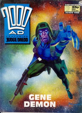 26 November 1988 2000 AD feat. JUDGE DREDD ref101674  pre-owned in well read condition.