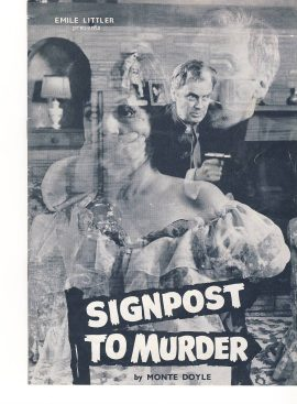 SIGNPOST TO MURDER by Monte Doyle Theatre Programme MARGARET LOCKWOOD ref101678 Vintage brochure is pre-owned in used condition. Measure approx 23cm x 17cm - 12 pages - undated. Margaret Lockwood