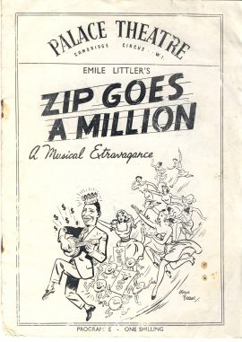1951 George Formby Zip Goes a Million Vintage Cambridge Theatre Programme ref101684 A musical extravaganza with photos from shows inc Aladdin of George Formby
