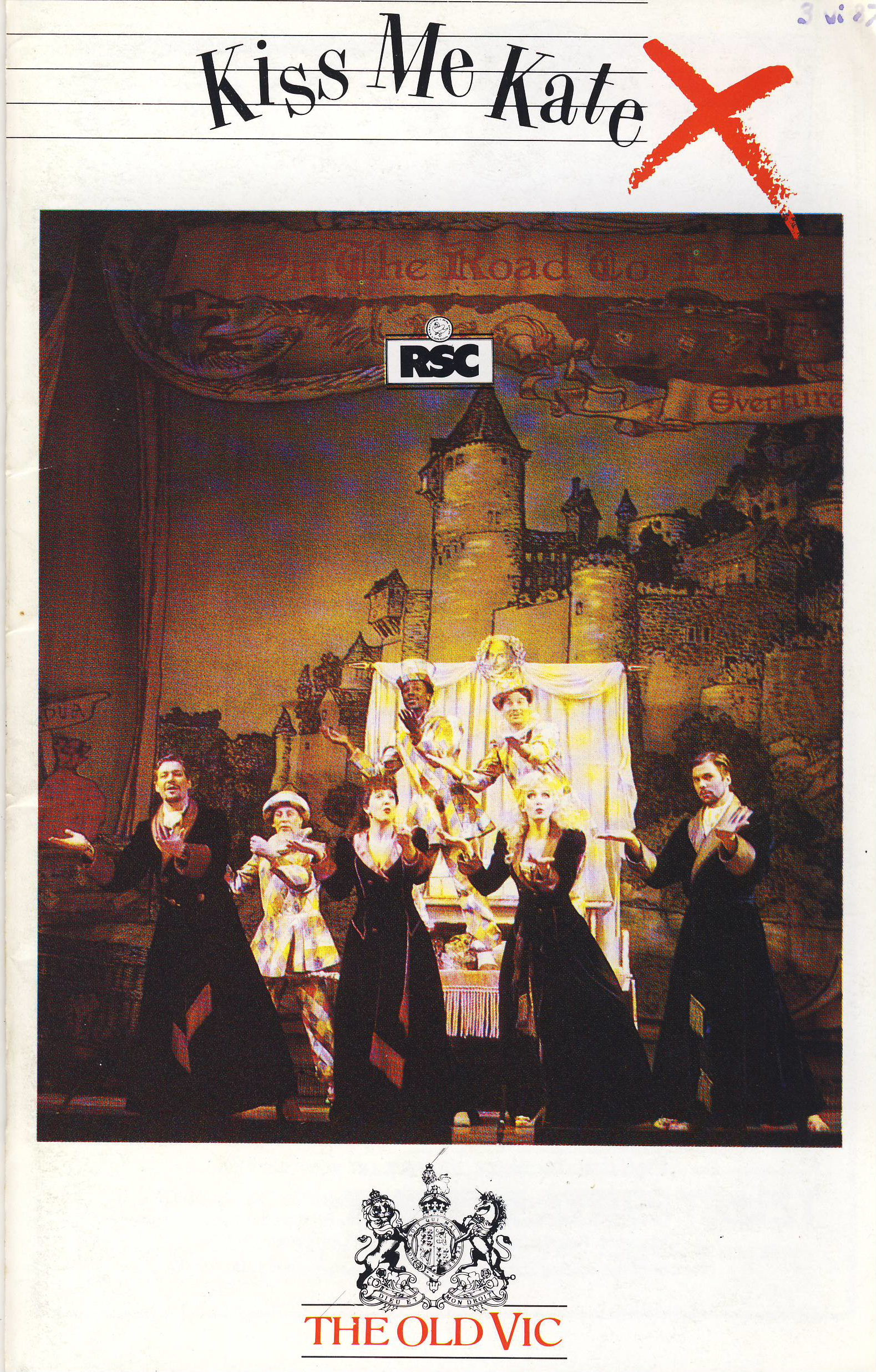 1987 KISS M KATE RSC Vintage Old Vic Theatre Programme ref101717 The Taming of the Shrew Vintage RSC brochure is pre-owned in used condition. Measure approx 21cm x 15cm